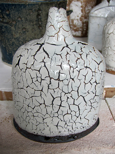 bottle with crackle