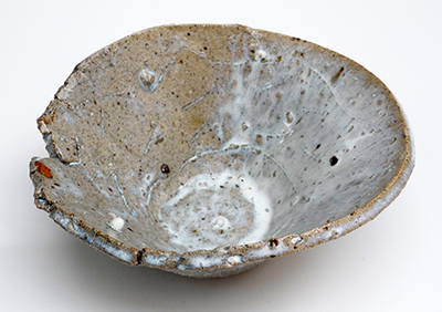 14 melting snow scored bowl 8 x 19 cm