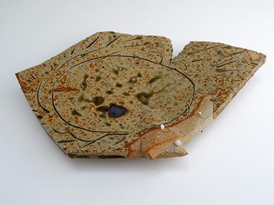 16 unwashed ash glazed platter 4 x 31 cm