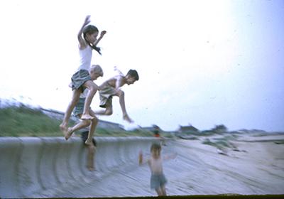 jumpingoff the seawall