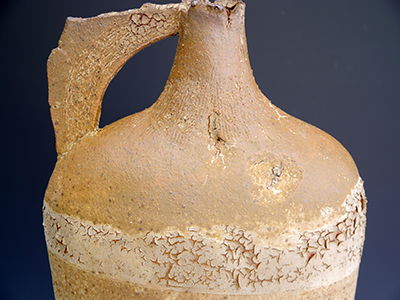 2 tall rust accretion flagon detail 57 x 23 cm