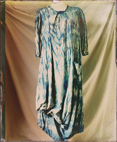 shibori indigo fuji dress