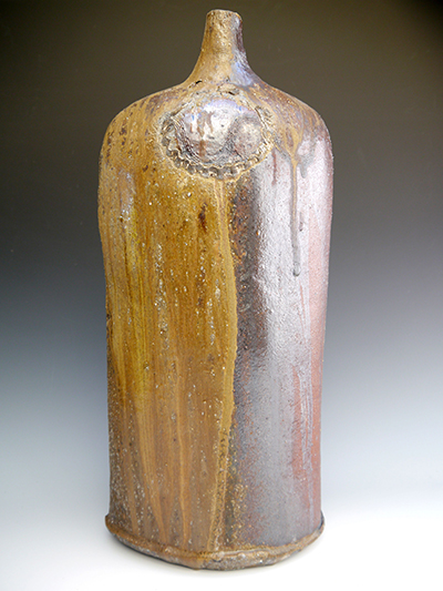 3 woodfired large bottle 53 x 24 cm