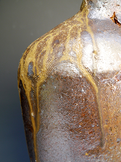 6 woodfired large bottle from firebox shoulder detail