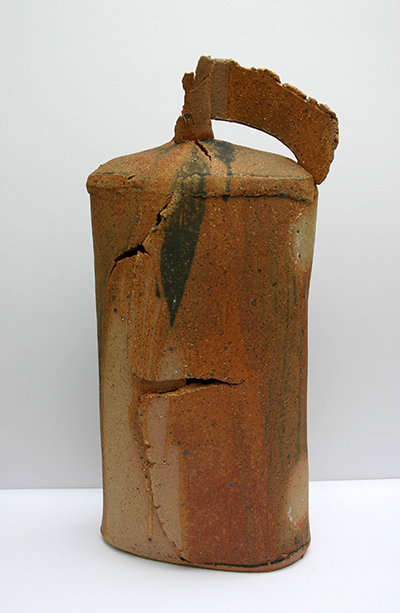 poured rust beach oval flask 57cm x 28cm