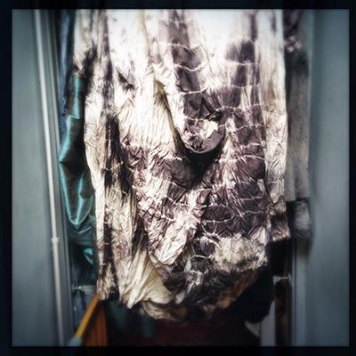 obre tie silk dress