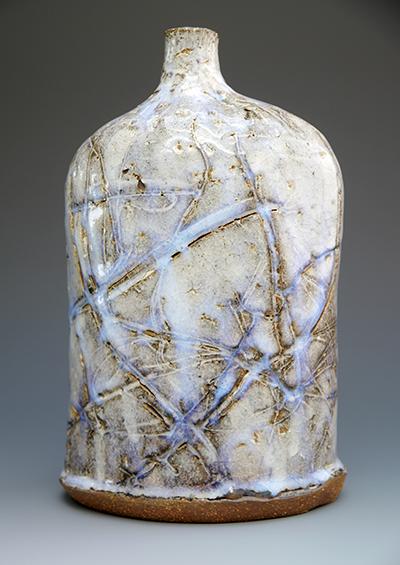 the chun glaze can produce these lovely optical blues